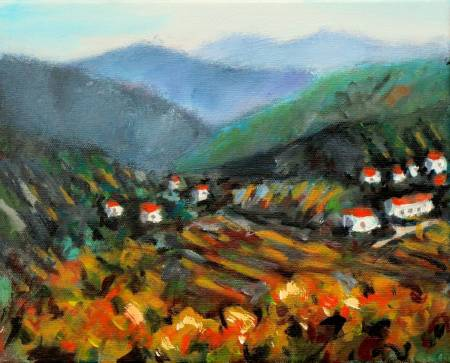 Ma Art-Abstract Landscape oil painting