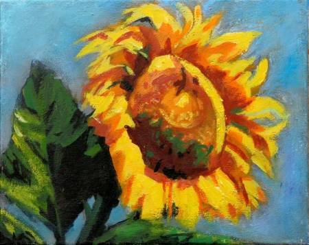 Ma Art-燦爛 sunshine oil painting