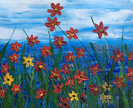 葛拉娜-Red flowers