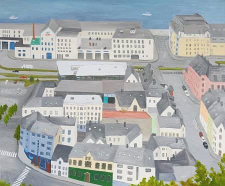 楊玉金-挪威奧勒松的街景