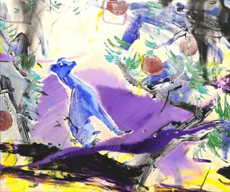 多納藝術-蔡宜儒 藍紫色風情