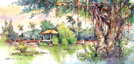 鄭開翔-國父紀念館翠湖一景