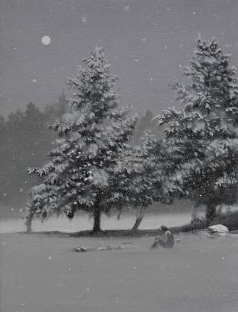 多納藝術-傅作新 雪中的寧靜