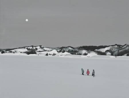 多納藝術-傅作新 月下漫步