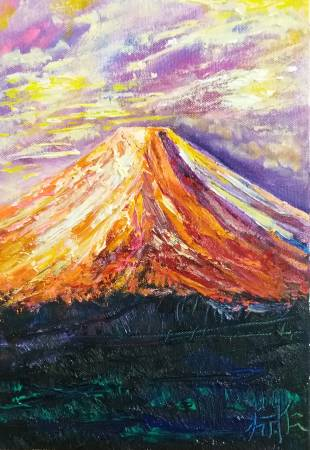 鄭淵仁-富士山與風格1