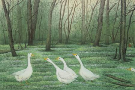 廖麗玲 Liling-森林小旅行 Forest Gossip (含框)