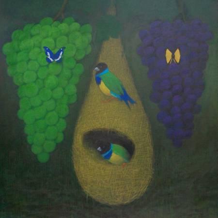 顏順吉-葡萄與鳥巢