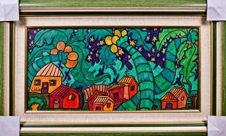 劉麗-椰子樹和小房子