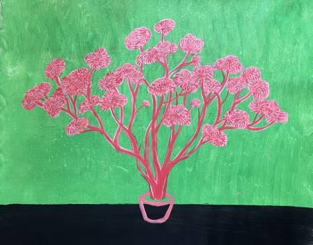 秀子-粉紅花