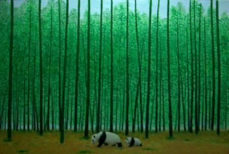 顏順吉-漫步在林中