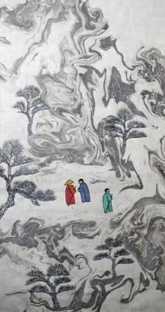 吳秀芳-修行系列~~寒山問禪-30