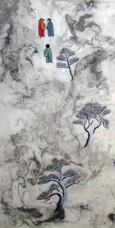 吳秀芳-  修行系列~~寒山問禪-52