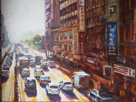 彭滂沱-台北街景(忠孝西路)