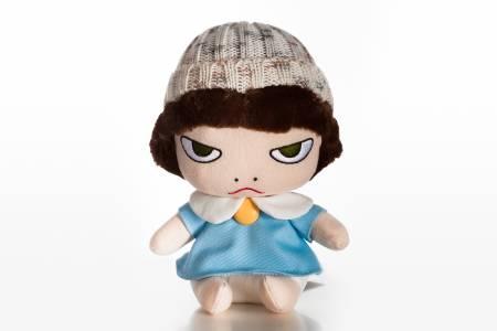 多納藝術-奈良美智娃娃 毛線帽睡衣雷亞