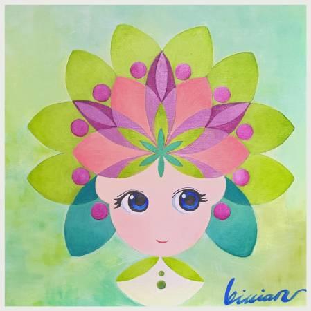 薇薇安-四季守護花神-六月-蓮花-清新、脫俗