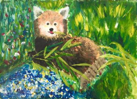 宇-貍貓與花