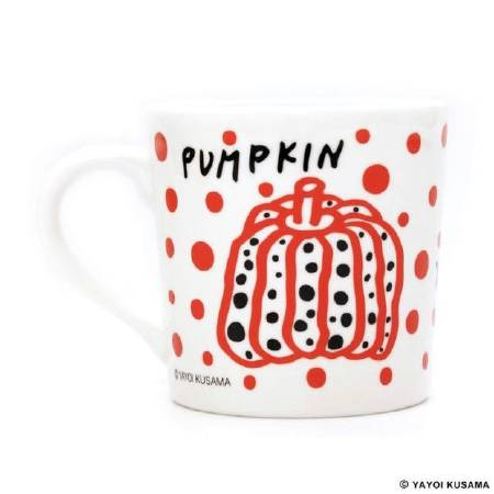 多納藝術-草間彌生南瓜杯 紅 Yayoi KUSAMA Pumpkin Mug Cup (red)