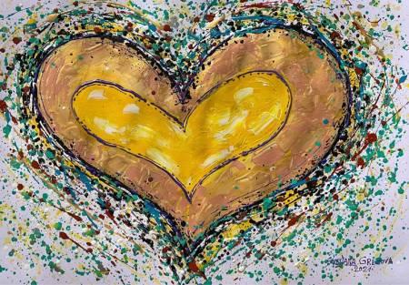葛拉娜-Loving heart- yellow