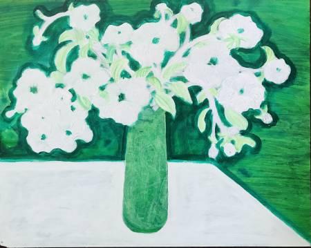 秀子-綠瓶白花
