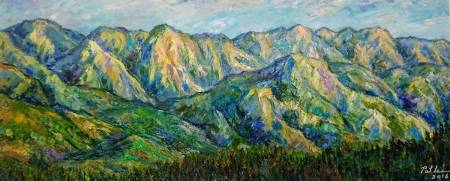 李芳時-晨光中的阿里山山脈