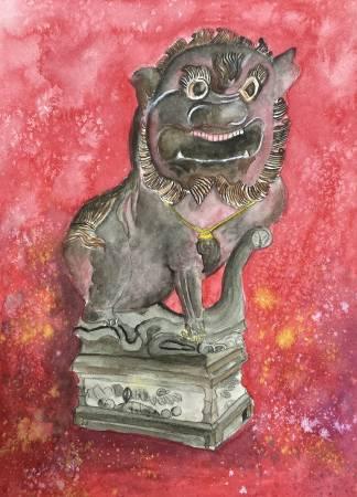 Win-廟前石獅