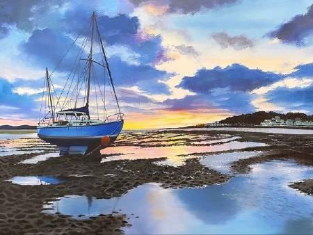 艾瑪 Amma-《泊岸小船》Boat Landscape