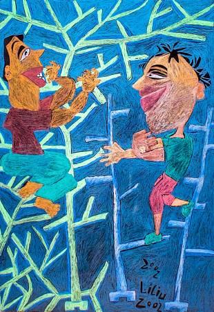 劉麗-樹上玩耍的男孩們 Boys Play On The Tree, 2002