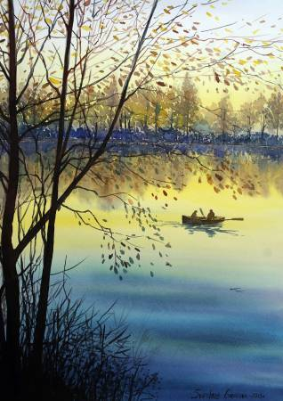 葛拉娜-夕日湖色 Sunset on the lake
