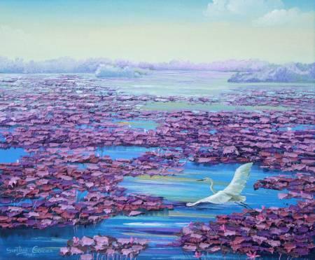 葛拉娜-Lotus pond (violet)