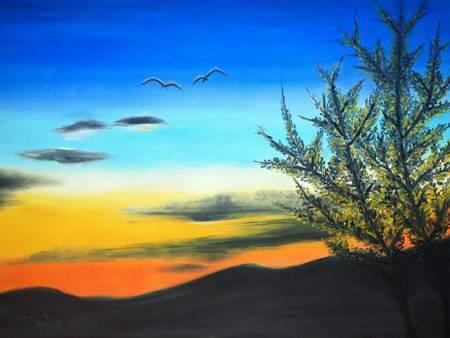 林俐斐-夕陽歸鳥