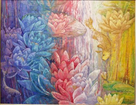 葛拉娜-色彩繽紛的池塘 Colorful pond