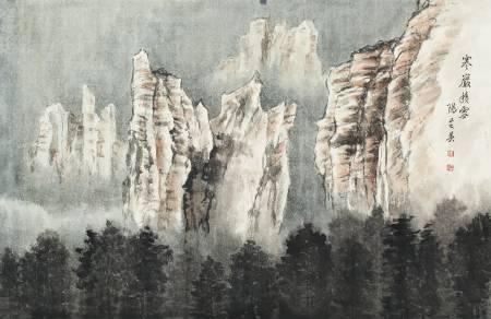 陽芝英-寒巖積雪