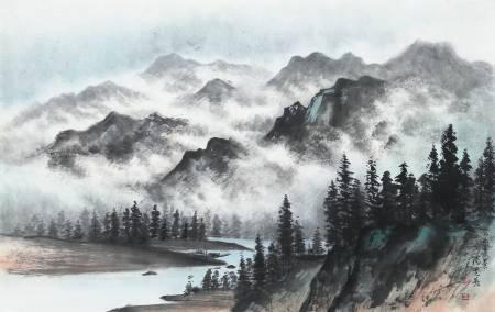陽芝英-雲山秀景