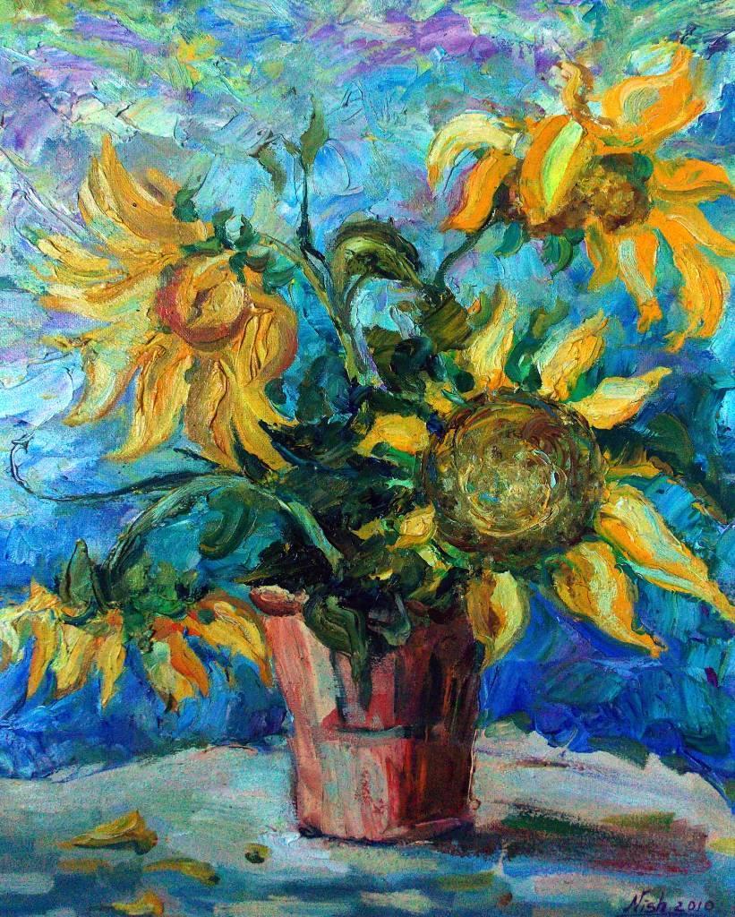 Natalia Nysh-Furry sunflowers
