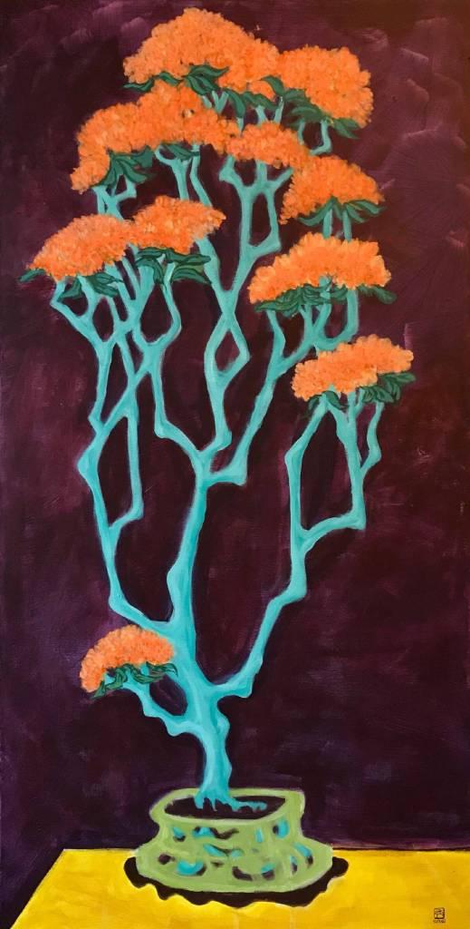 阿秀子-藍枝橘花