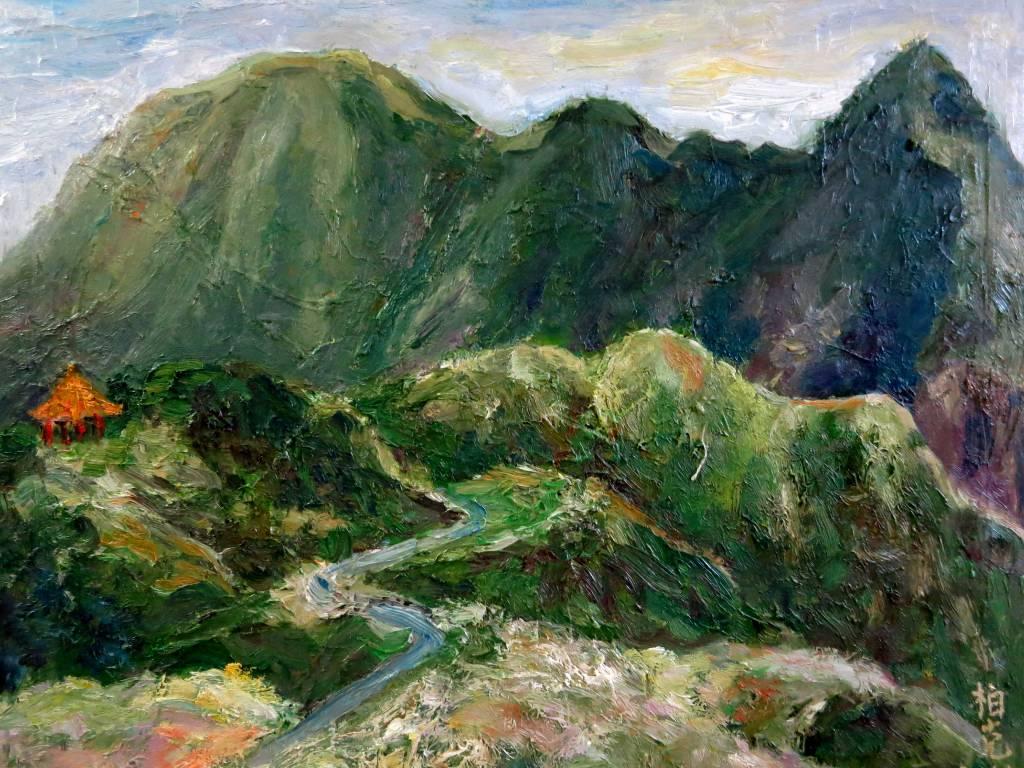 潘柏克(柏克創藝)-俯瞰基隆山 Overlooking Keelung Mountain