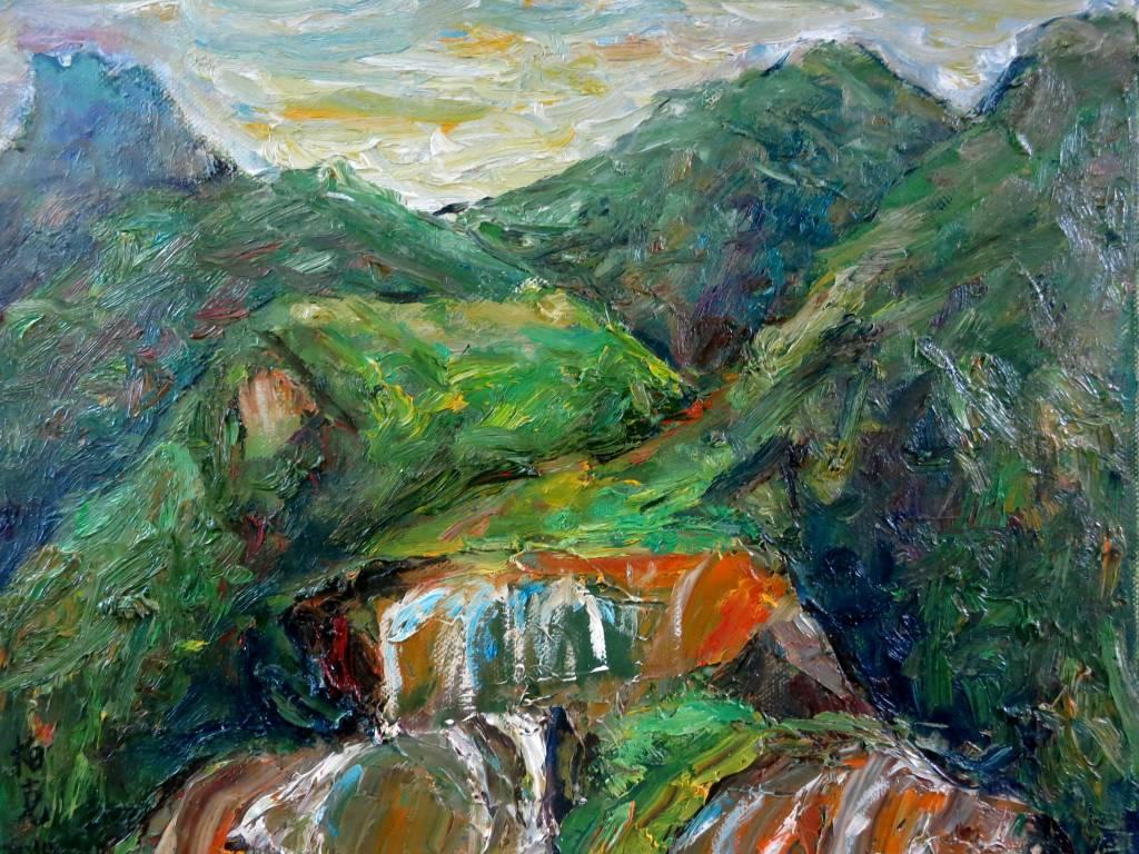 潘柏克(柏克創藝)-黃金瀑布 Golden Waterfall
