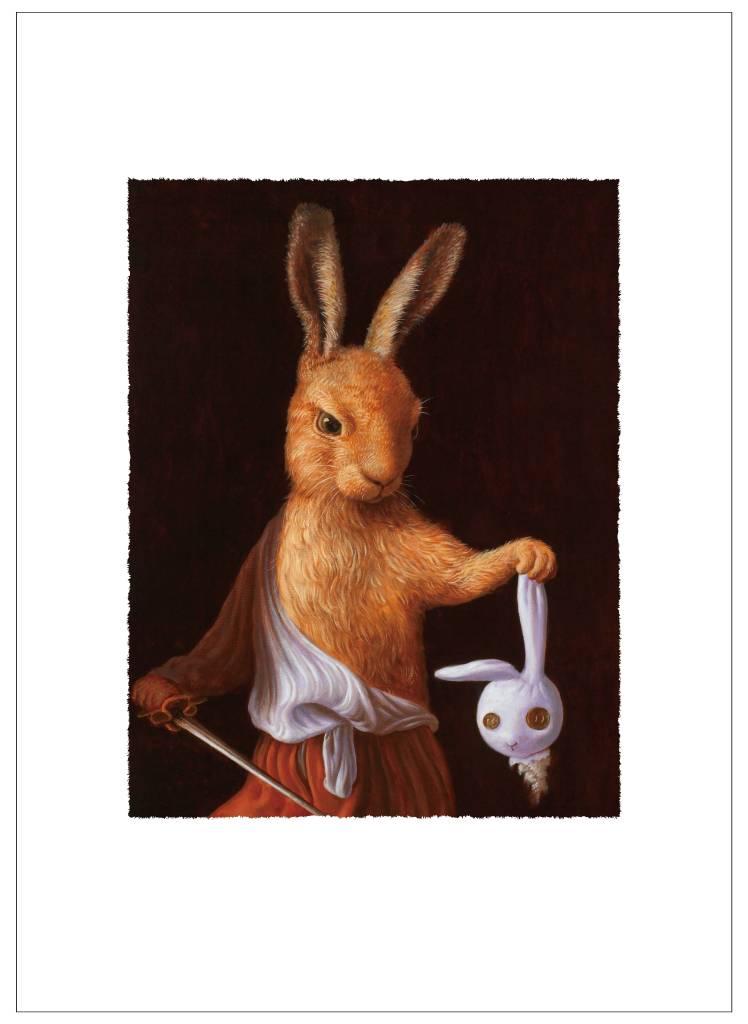 詹喻帆-大衛兔拿著玩偶兔的頭