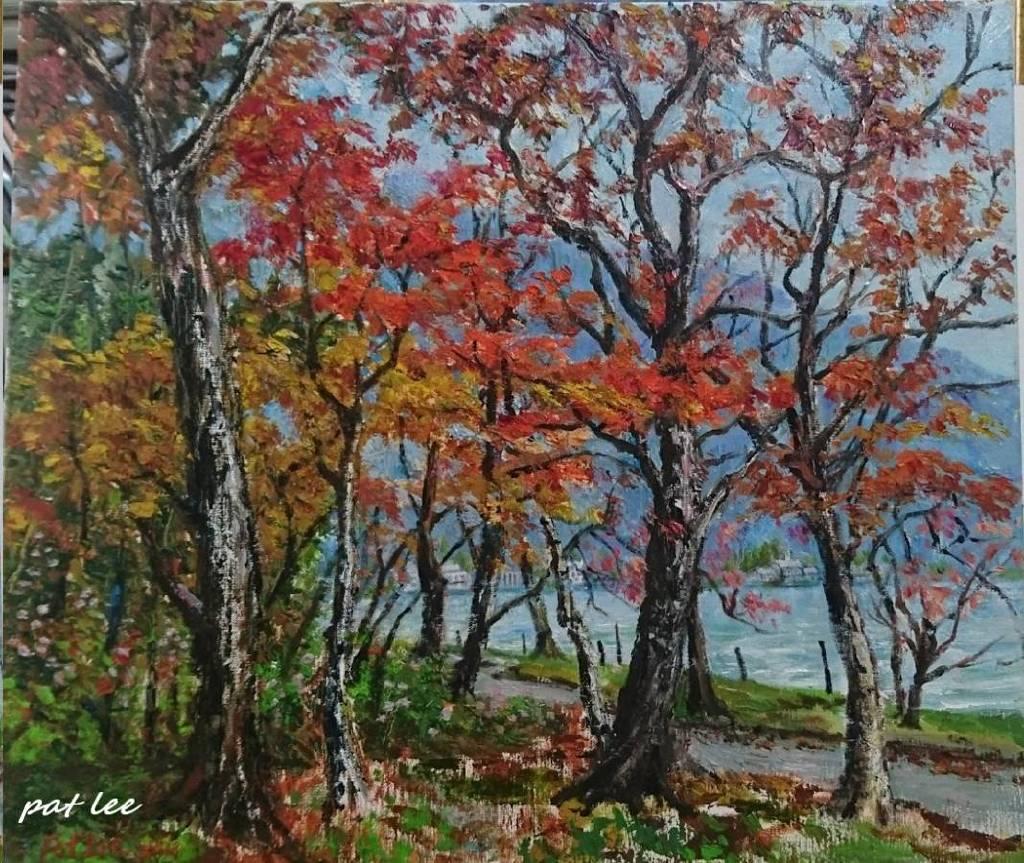 李芳時-湖畔紅楓