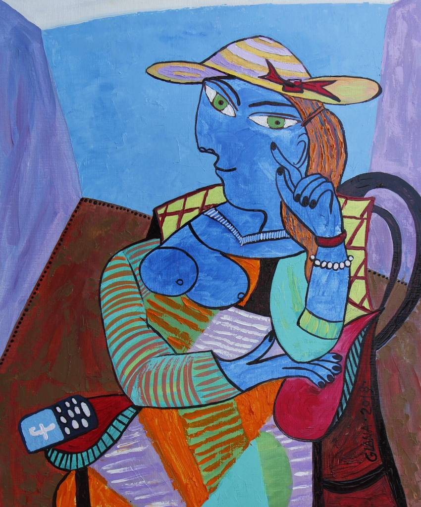 葛拉娜-Blue lady-inspired by Picasso