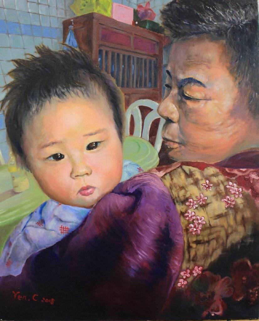 言宴-曾祖母的懷裡 in the arms of great grandmother