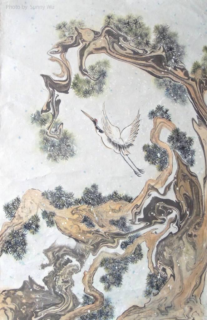 吳秀芳-松鶴延年-1