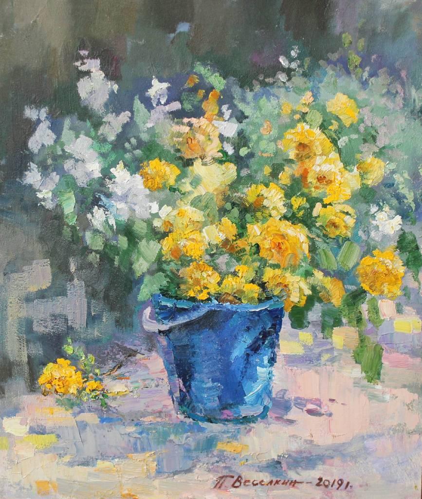Pavel Veselkin-Jasmine and yellow rose