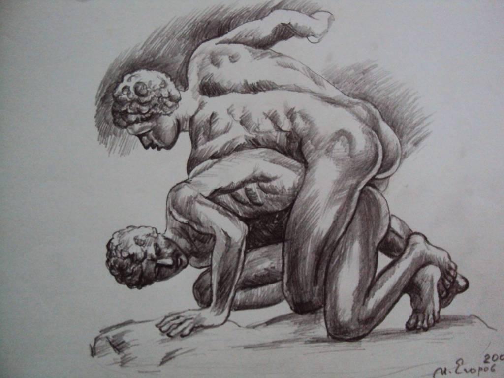 Ivan Yehorov-摔跤者 Wrestler-Pancratium