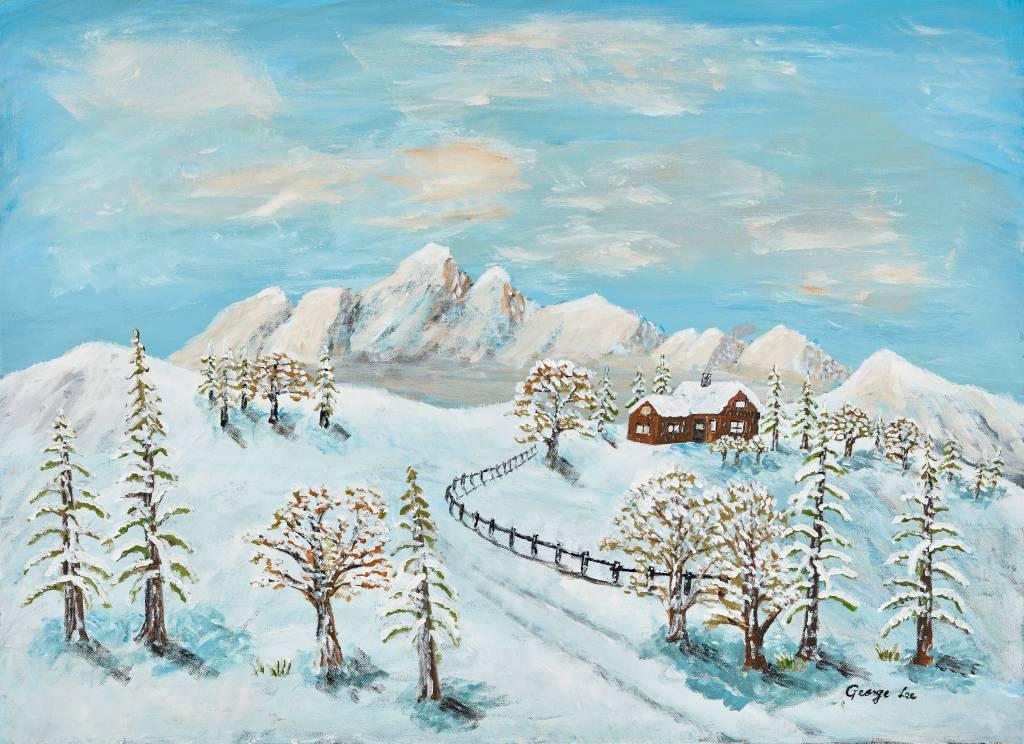 水長流-山中雪景 1 Snow Hill