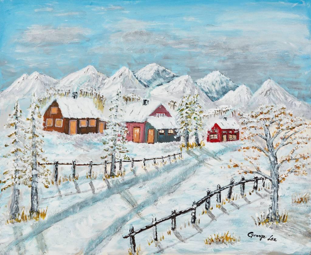 水長流-山中雪景 2  Snow Hill