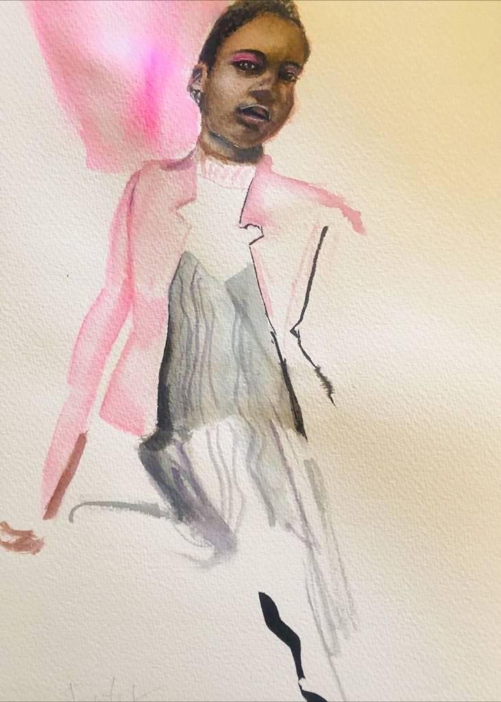 Danting-水彩肖像習作