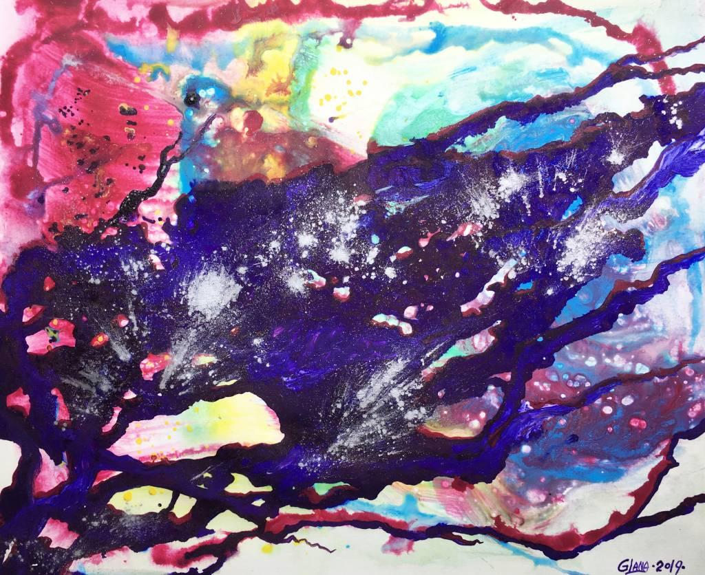 葛拉娜-Abstract in Violet