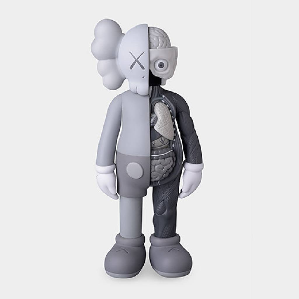 多納藝術-KAWS - Flayed Gray COMPANION Figure