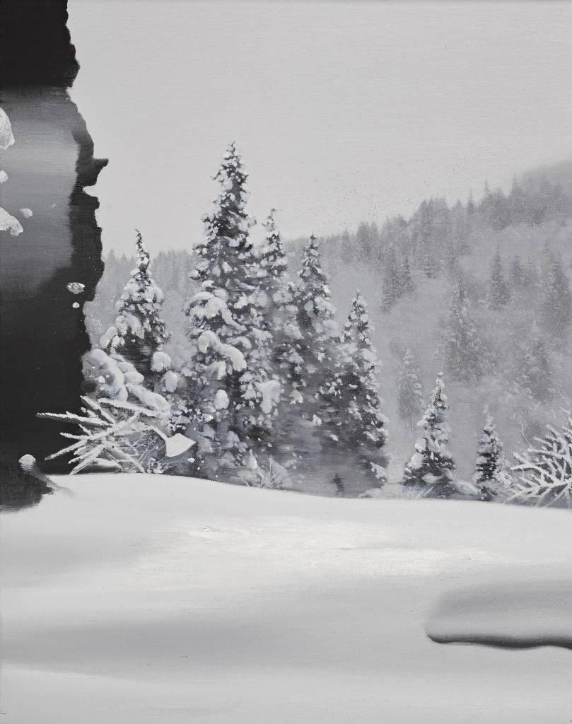 多納藝術-傅作新 雪中影